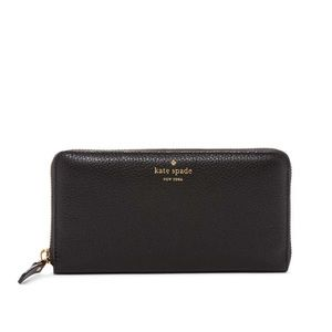 """♠️ Kate Spade New York """"Lacey"""" leather zip wallet"""